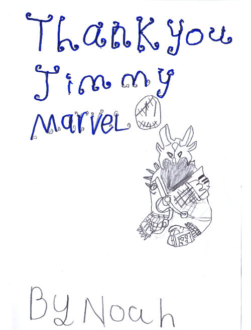 Thank you Jimmy Marvel By Noah