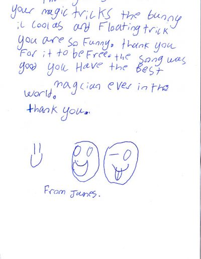 Jimmy Marvel Fan Mail Thank You Card from James