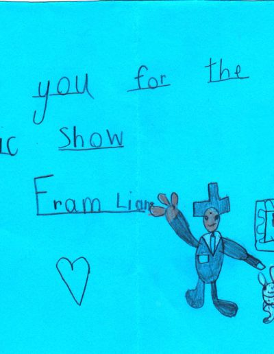 Jimmy Marvel Fan Mail Thank You Card from Liam