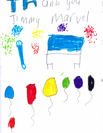 Jimmy Marvel Fan Mail Thank You Card from Aarav