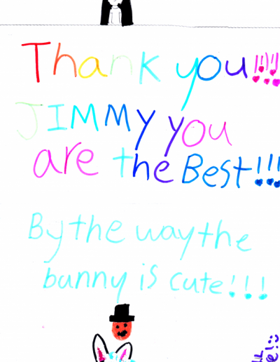 Jimmy Marvel Fan Mail Thank You Card from Daisy
