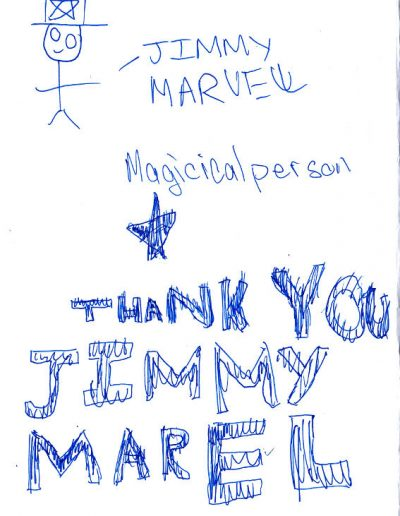 Jimmy Marvel Fan Mail Thank You Card from Ricky